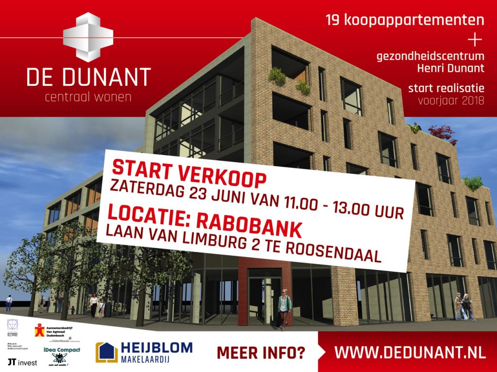 Binnenkort start verkoop appartementen De Dunant Roosendaal